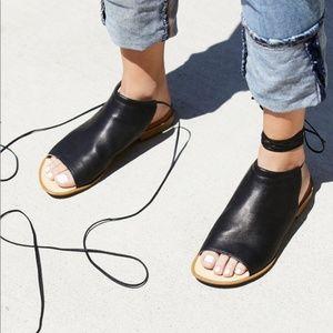 Free People Sand Dunes Boot Sandal in Black